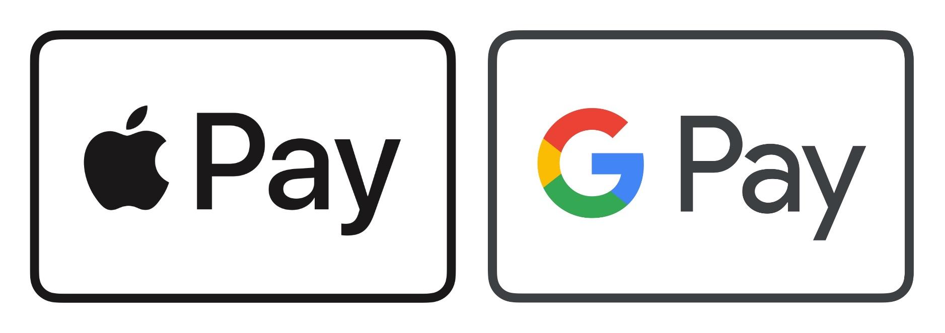 google pay apple pay logo