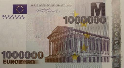 miljoen euro biljet deflatie